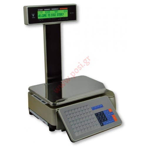 Ζυγαριά DIGI SM-5100 P με εκτυπωτή και υπερυψωμένη οθόνη