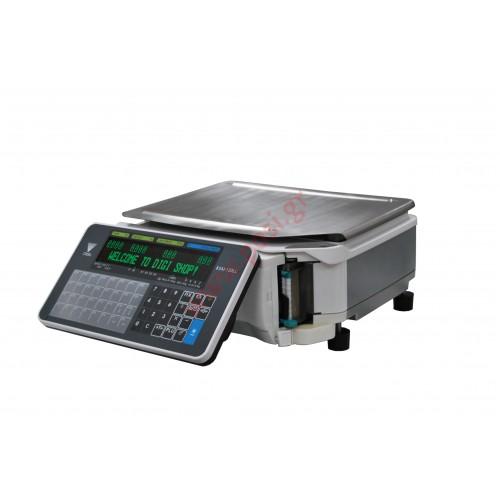 Ζυγαριά DIGI SM-120B LL με εκτυπωτή Linerless και οθόνη στο σώμα του ζυγού